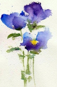 Violets by Anne Duke