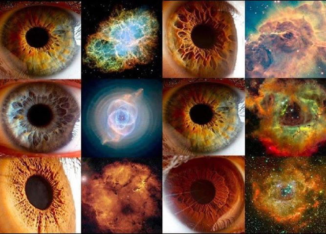 Image result for eyes that look like galaxies