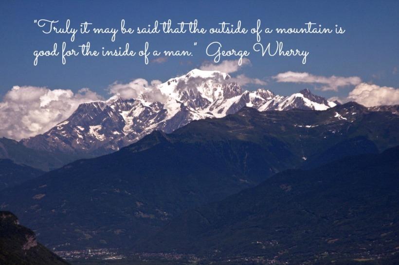 Mount Blanc zoomed