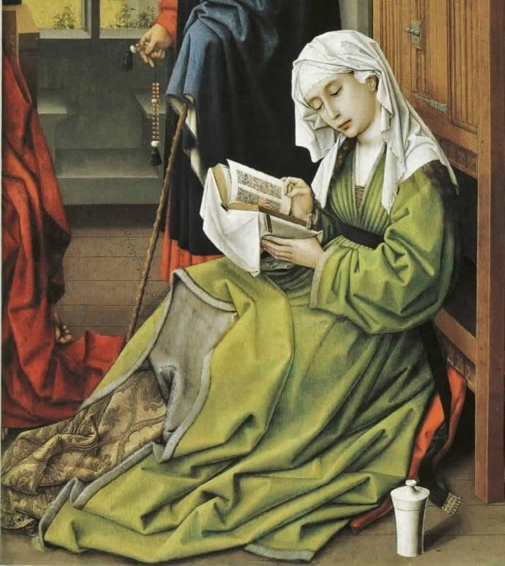 Rogier van der Weyden (Flemish painter, 1400-1464) Magdalen Reading (fragment of an altarpiece)